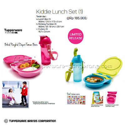 Kiddie Lunch Set Promo Tupperware April 2016