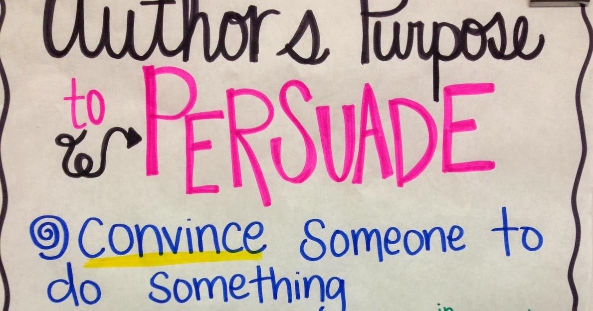 Writing to persuade