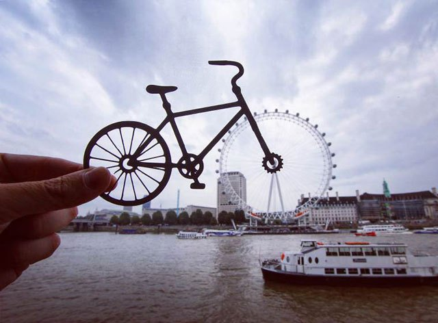 3. - Artist Adds Creative Twist To His Travel Photos with Paper Cut Outs