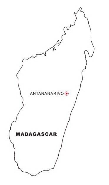 Colorea Tus Dibujos Mapa De Madagascar Para Colorear