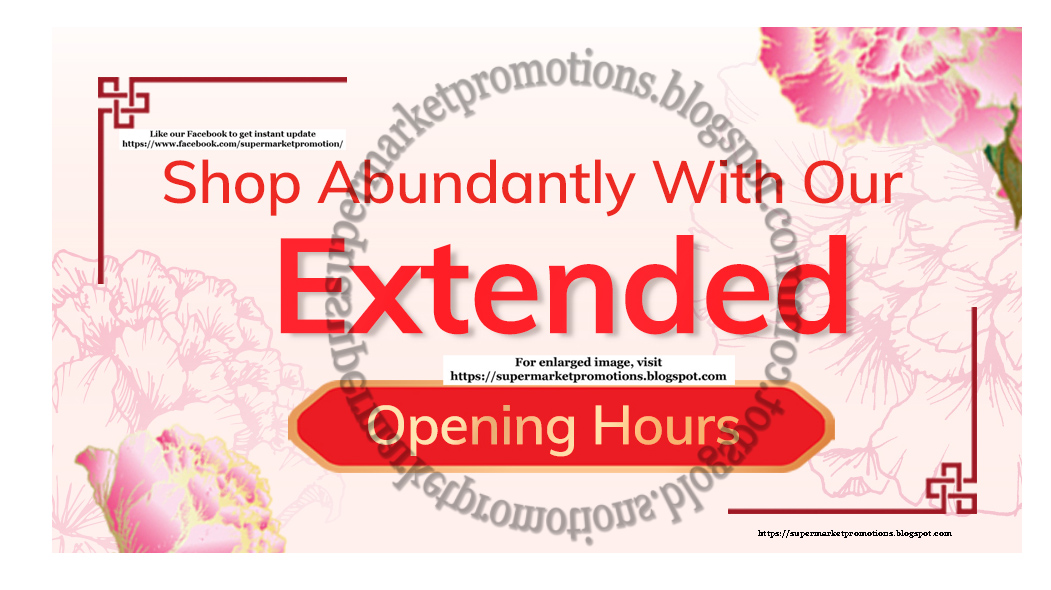 NTUC FairPrice Chinese New Year Opening Hours 05 February 2019 ~ Supermarket Promotions