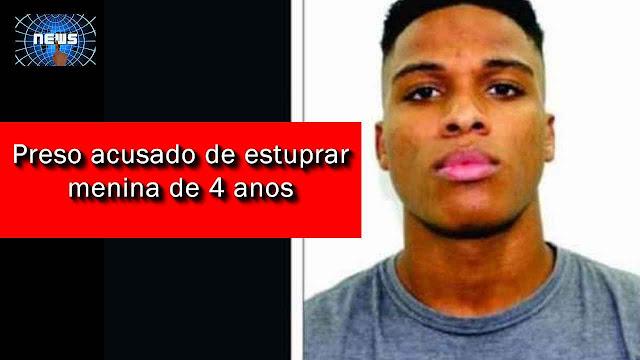Jovem procurado por estuprar menina de 4 anos é preso no ES.