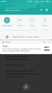 paytm Rs.1 deals cashback offer