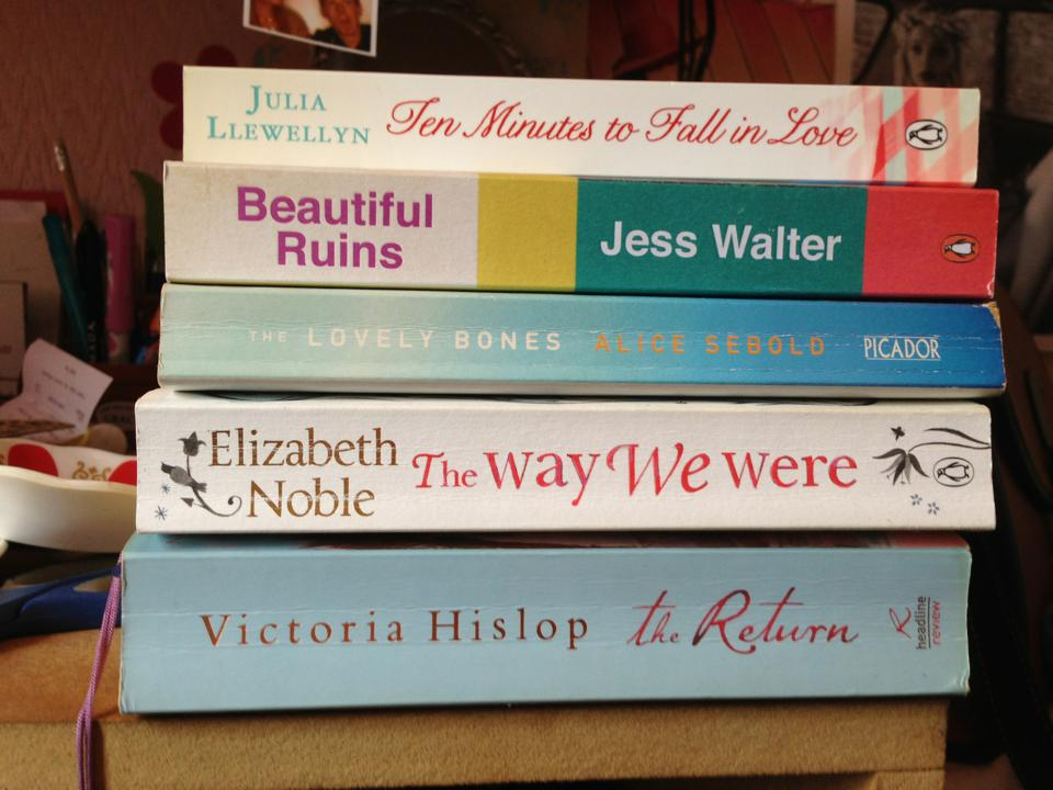 A pile of books I am yet to read