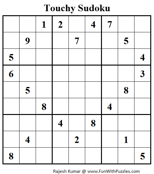 Touchy Sudoku (Fun With Sudoku #44)