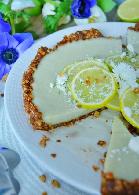 Tarte au Citron Vert Légère et Végétalienne / The Healthiest Vegan Key Lime Pie