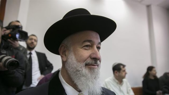 Former Israeli chief rabbi Yona Metzger gets 4.5 years in prison for graft