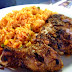 Yummy Nigerian Jollof Rice with Fried Fish
