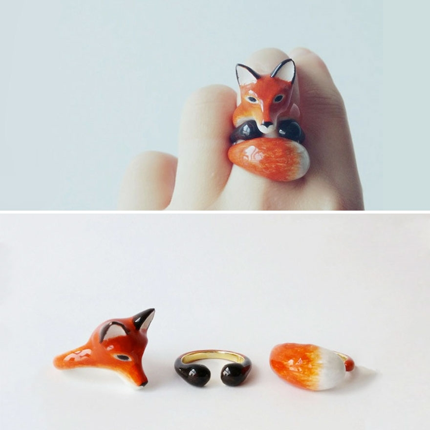 04-Fox-Mary-Lou-Three-Piece-Animal-Jewellery-Rings-www-designstack-co