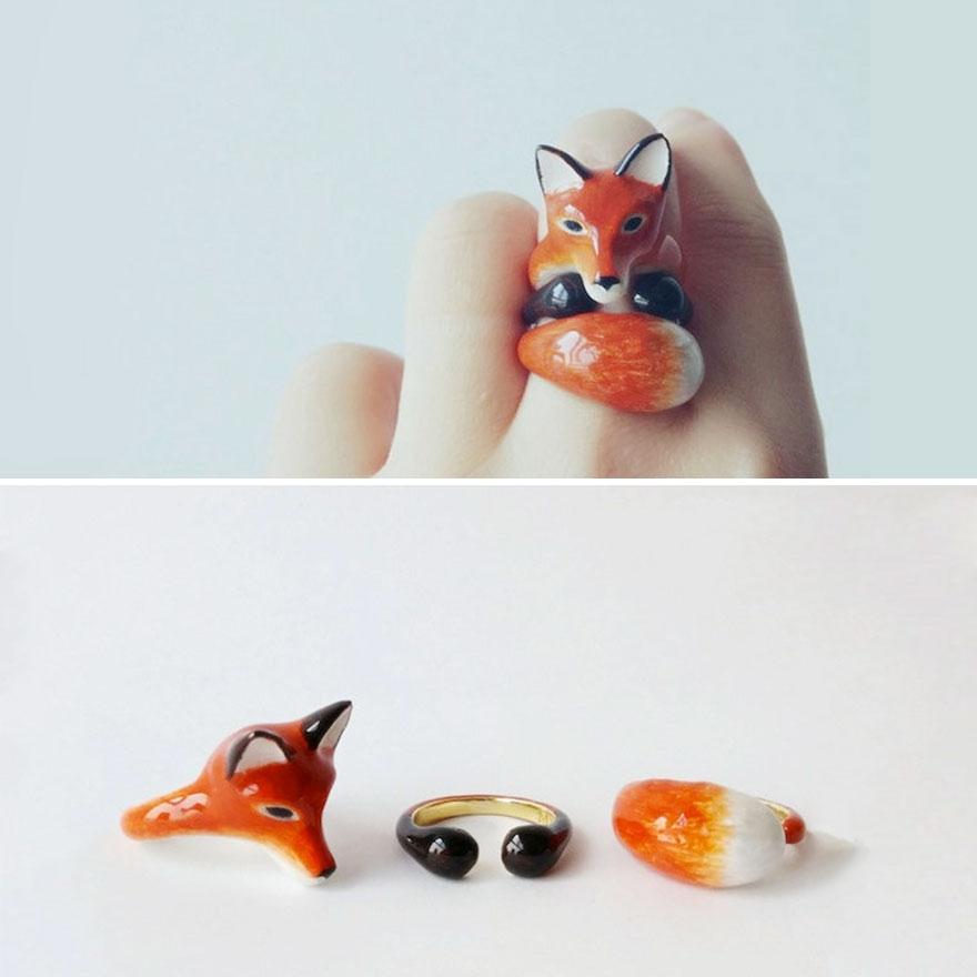04-Fox-Mary-Lou-Three-Piece-Animal-Jewellery-Rings-www-designstack-co