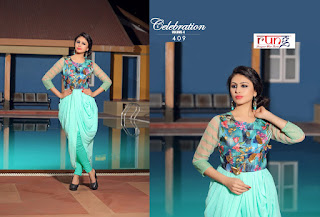 CELEBRATION VOL 4 KURTIS KURTA TOPS WHOLESALER LOWEST PRICE SURAT GUJARAT