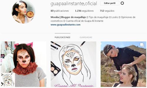 Portafolio de maquillaje online en instagram