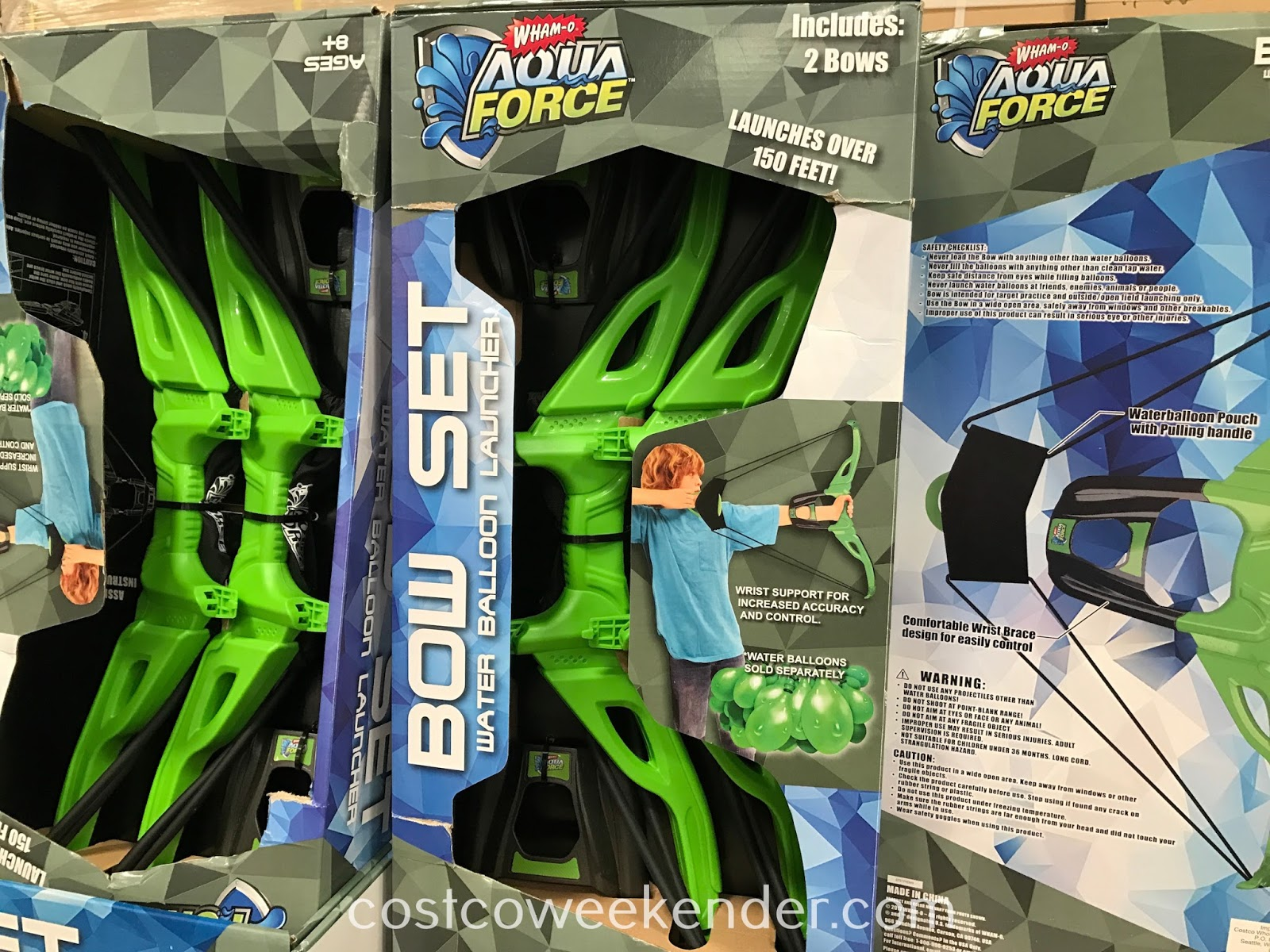 Have fun while cooling down with the Wham-O Aqua Force Water Balloon Launcher Bow