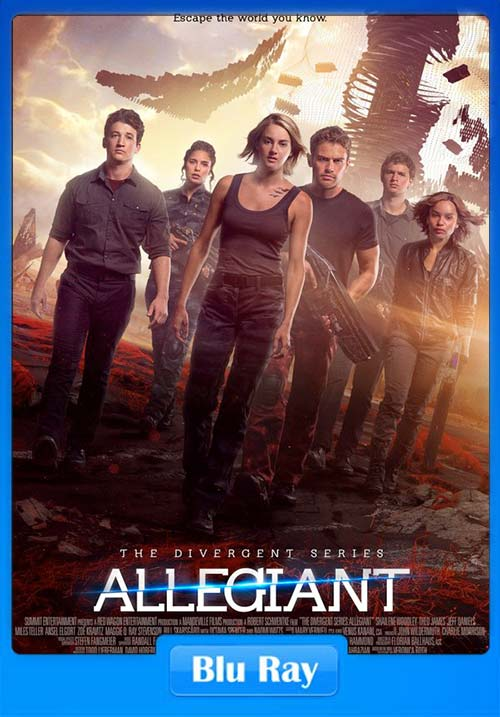 Allegiant 2016 Dual Audio Hindi 720p BluRay x264 | 480p 300MB | 100MB HEVC