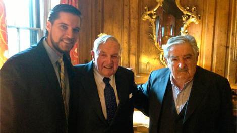Con José Mujica, en 2014. FOTO: Archivo