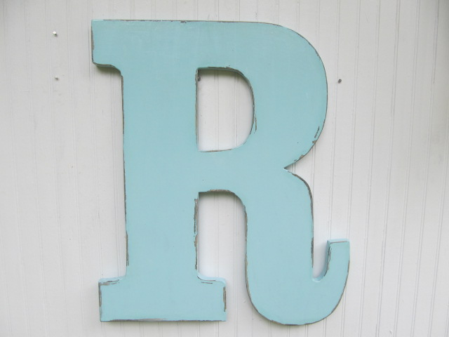Hand Making Large Wood Alphabet Letters For Wall Decorations