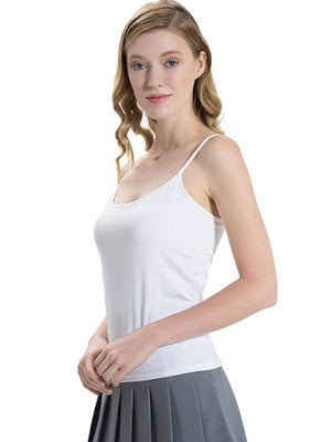 6a922de719334 HBY Women s Camisole Built in Shelf Padded Bra Cami Bra Tank Top
