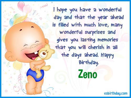 Zeno Happy birthday