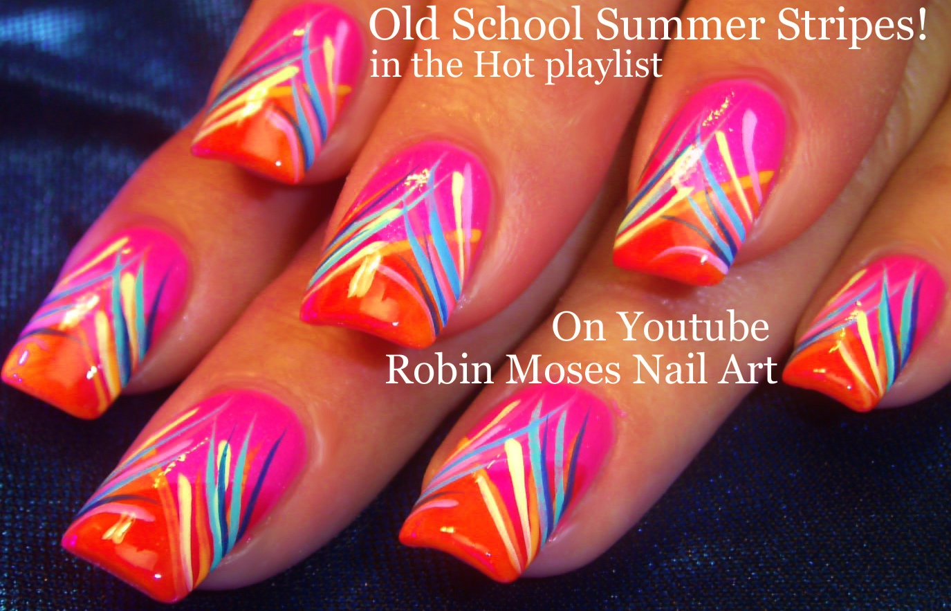 Nail Art by Robin Moses: Easy Neon Pink Summer Nails Up and perfect ...