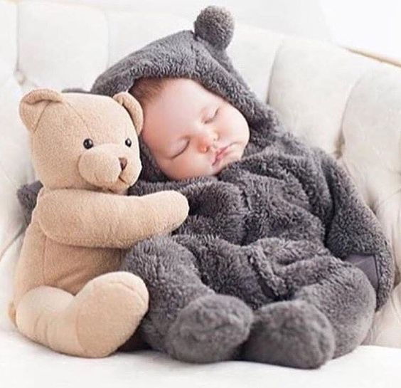 Cute Baby Images with Teddy Bear