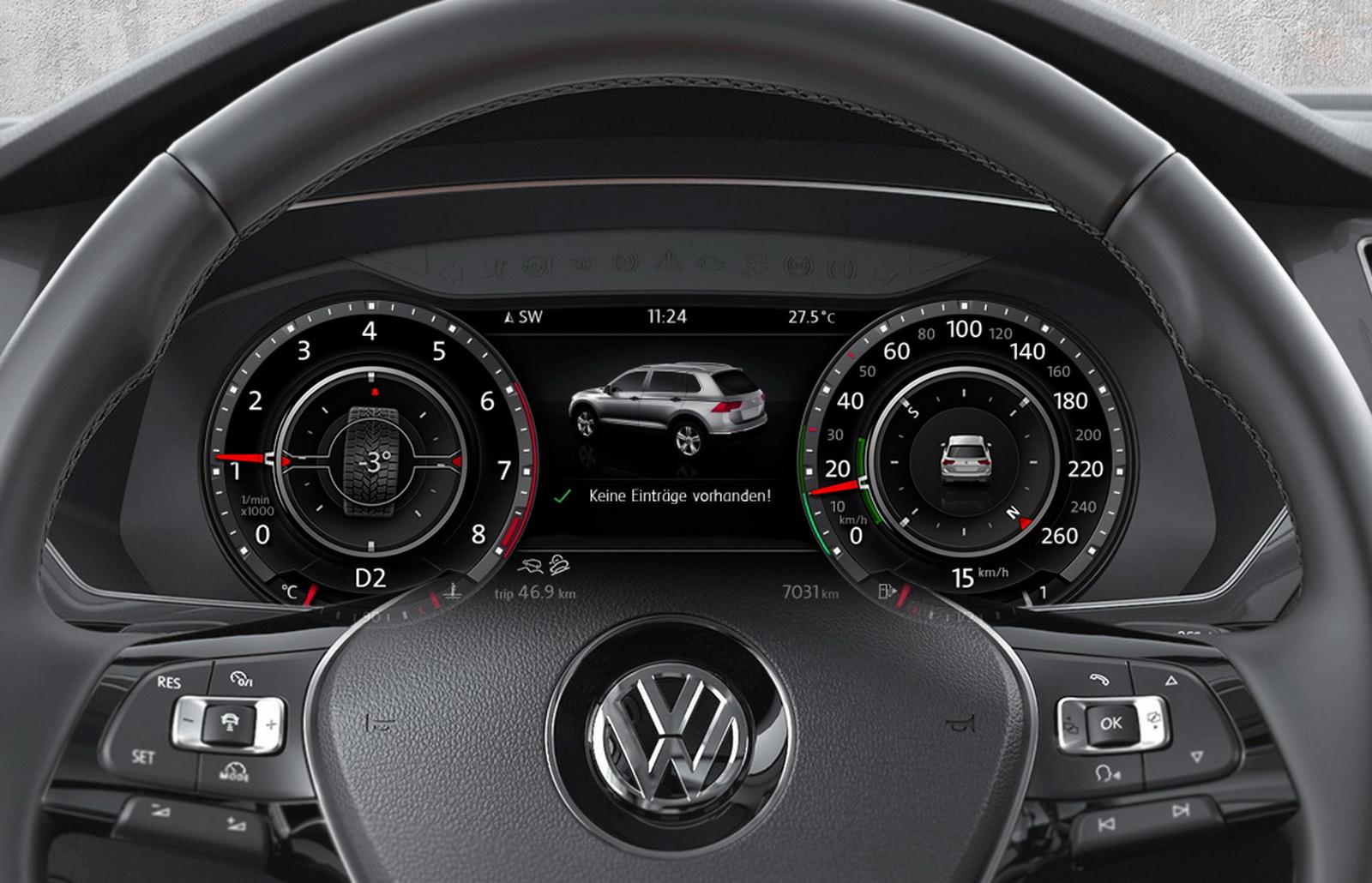 Приборная панель Volkswagen Tiguan