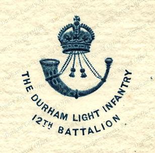 12th Battalion Durham Light Infantry insignia (D/DLI 7/913/321)