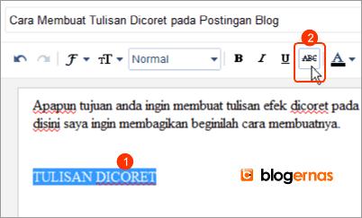 Cara Membuat Tulisan Dicoret pada Postingan Blog