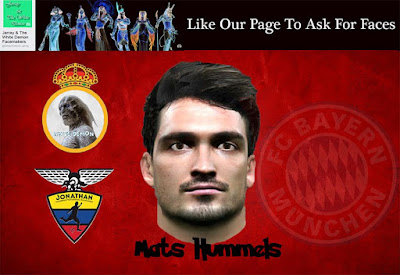 PES 2016 Mats Hummels Face By Jonathan Facemaker Collab With The White Demon