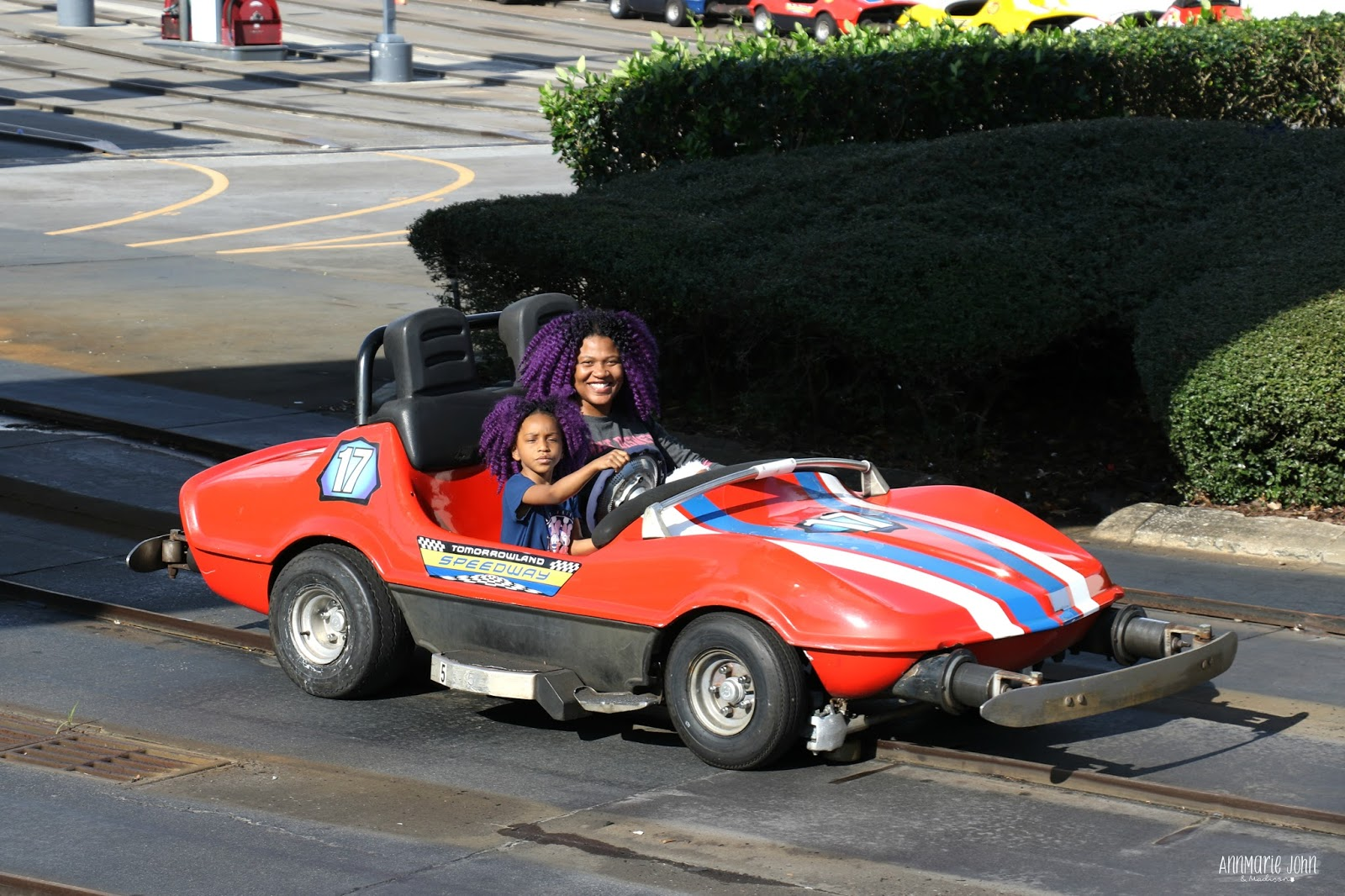 think of it as a bigger version of their power wheels kids get to drive their very own gas powered car around a race track