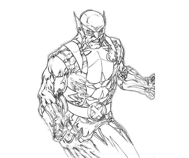 #2 Wolverine Coloring Page