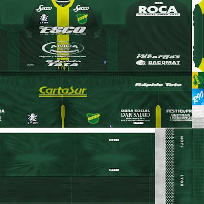 PES 6 Kits Defensa y Justicia Season 2017/2018 by Rodry90 Kitmaker