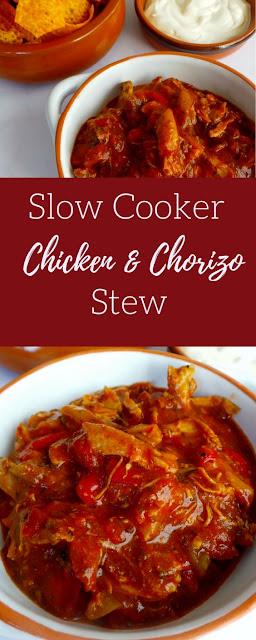 SLOW COOKER CHICKEN CHORIZO STEW