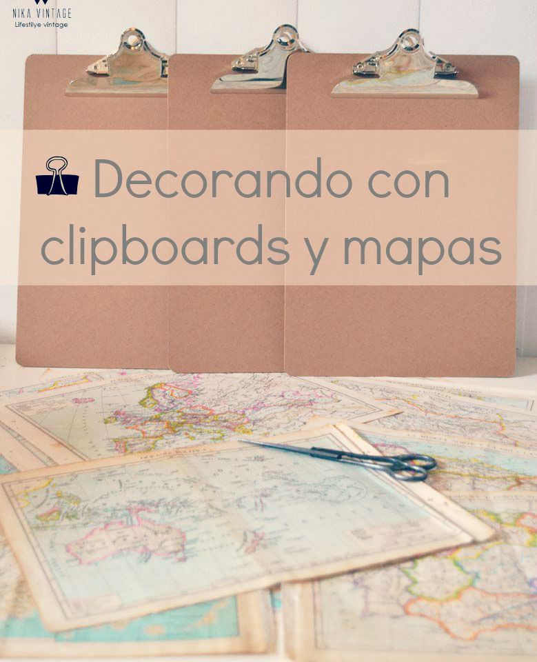 decoración, mapas, clipboard, composición, pared, icono decorativo