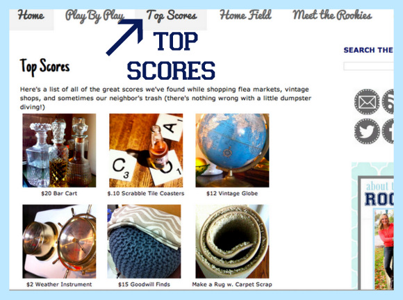 Click on top scores to look at awesome finds found at flea markets, vintage shops, and more.