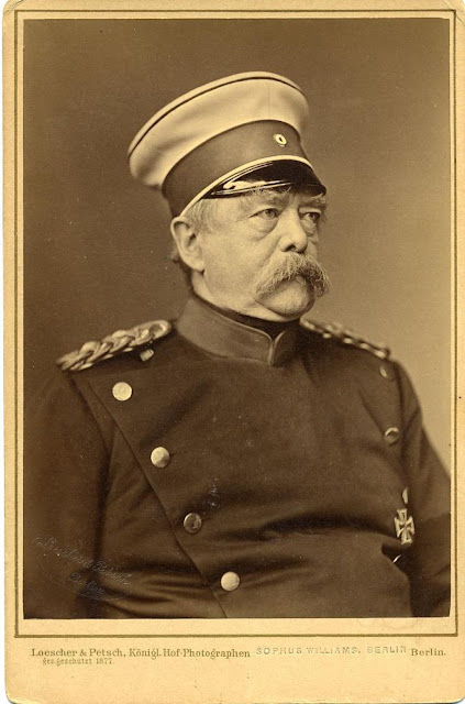 Portrait of Otto von Bismarck,  minister president of Prussia in uniform.Speak Your Mind and other stories of Grandmas and reason. marchmatron.com
