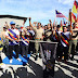 SEA Games torch crosses Batang Sadong Bridge with 350 soldiers