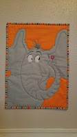 Horton Hears a Who Dr. Seuss mini quilt