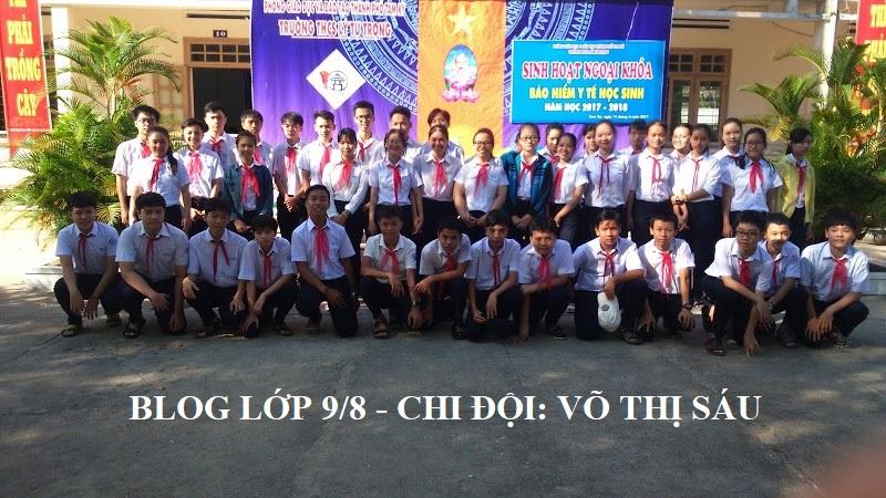 Blog lớp 9/8 - Chi đội: Võ Thị Sáu