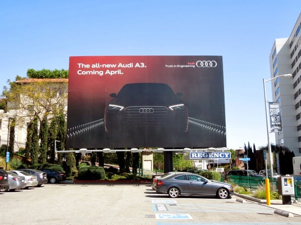All-new Audi A3 Coming April 2014 billboard
