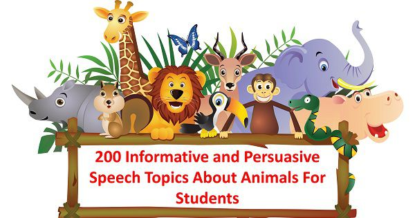 200 Informative and Persuasive Speech Topics About Animals For Students