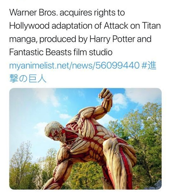Attack on Titan to get another live action movie by Warner Bros.