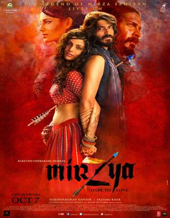 Poster Of Mirzya 2016 Hindi 700MB   Watch Online Free Download world4ufree.org
