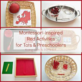 Montessori-inspired Red Activities for Tots and Preschoolers