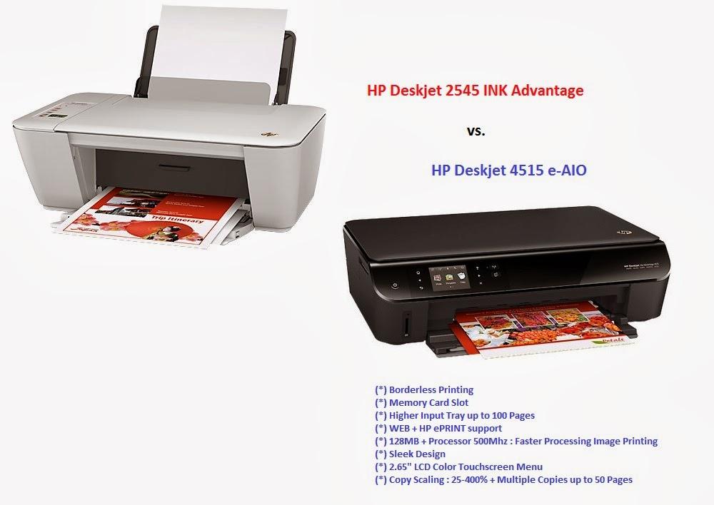 Perbandingan HP Deskjet 2545 vs  Deskjet 4515 e-AIO   JUAL
