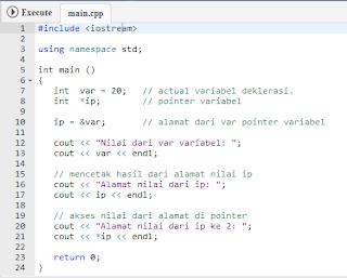 Pointer Pada Pemrograman C++