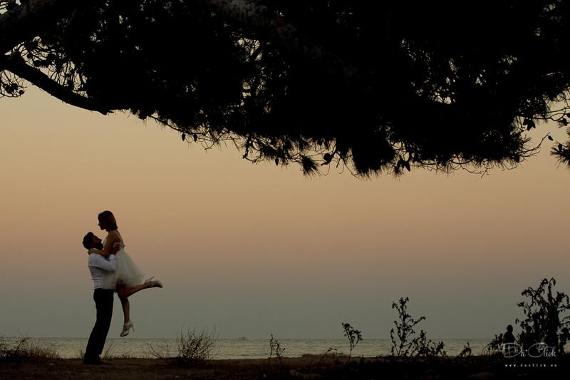 pareja de baile mar