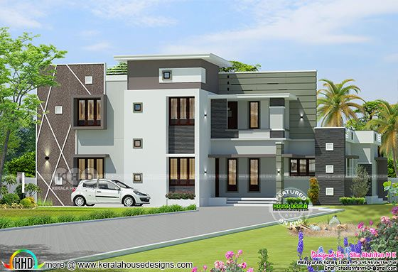 Modern box model 4 BHK 2820 square feet Kerala home