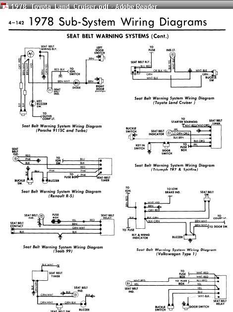 Ford 3 0 Wiring Diagram Repair Manuals All Models 1978 Seat Belt Warning Wiring