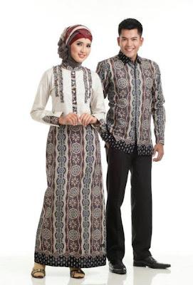 Koleksi Baju Batik Couple Muslim Batik Indonesia
