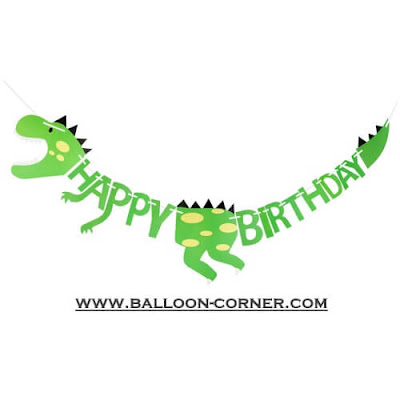Bunting Banner HAPPY BIRTHDAY Motif Dinosaurus